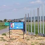 Ekrany akustyczne w polu Promnik gmina Strawczyn