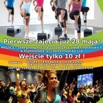 Plakat zumba i aerobik w Piekoszowie
