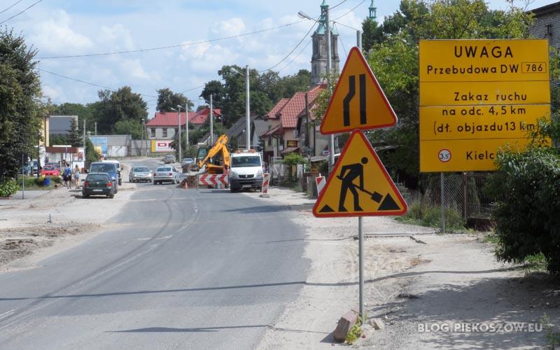 Ten znak oznacza lewostronne zwężenie jezdni - a powinno być odwrotnie
