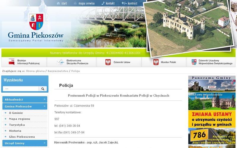 """Strona internetowa gminy """"informuje"""" o posterunku policji, którego w rzeczywistości nie ma"""