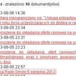Ogłoszenie o sesji rady gminy Piekoszów 6 sierpnia 2013