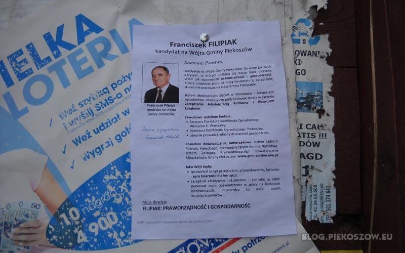 Pierwszy plakat wyborczy