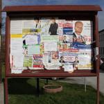 Tablica ogłoszeń w Piekoszowie