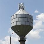 Wieża ciśnień przy ujęciu wody nr 1 w Piekoszowie