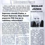 """Biuletyn informacyjny KWW """"Inicjatorzy Referendum"""" - strona 1"""