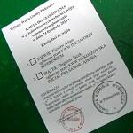 Karta do głosowania w drugiej turze wyborów wójta gminy Piekoszów
