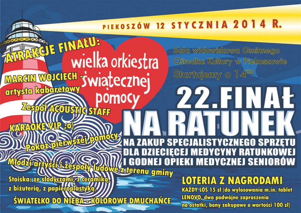 22. Finał Wielkiej Orkiestry Świątecznej Pomocy w Piekoszowie