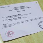 Karta do głosowania w drugiej turze wyborów wójta Piekoszowa w 2014