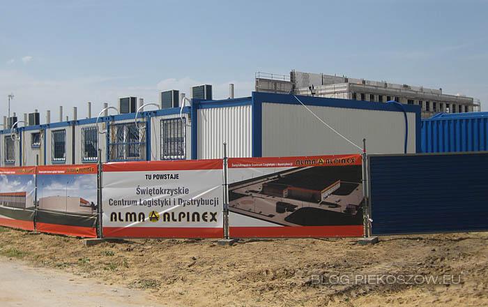 Budowa Świętokrzyskiego Centrum Logistyki i Dystrybucji Alma-Alpinex - lipiec 2014