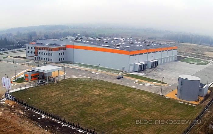 Świętokrzyskie Centrum Logistyki i Dystrybucji Alma-Alpinex - widok z lotu ptaka w grudniu 2014