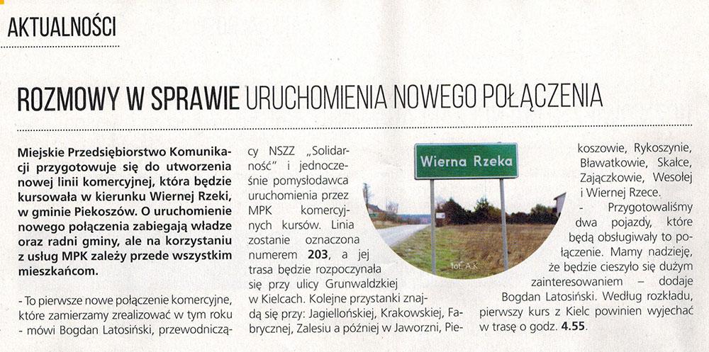2015-01-30 wycinek z gazety MPK Pasażer