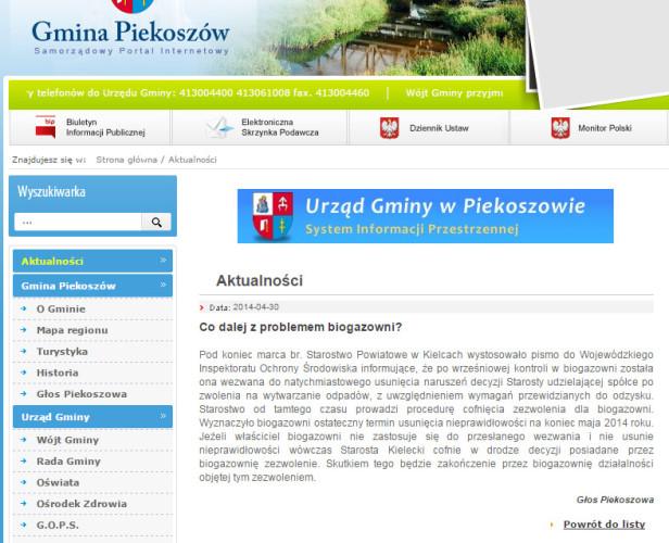 2015-04-11 informacja o biogazowni